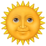 Sun with smile face