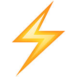 Lightning strike symbol