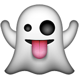 Ghost with tongue out