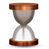 Hourglass with sand going to bottom