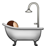 Bathtub with person inside