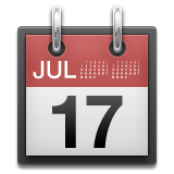Tear off calendar with July 17th