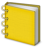 Notebook with binder rings