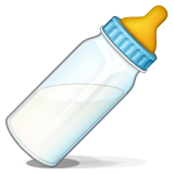 Baby bottle, milk