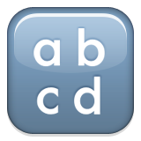 Lowercase letters a, b, c, and d