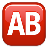 Capital letters, blood type AB